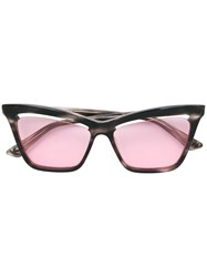 Mcq By Alexander Mcqueen Eyewear Cutaway Lens Cat Eye Sunglasses Grey