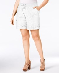 Styleandco. Style And Co. Plus Size Poplin Shorts Only At Macy's Bright White