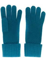 N.Peal Ribbed Cashmere Gloves Green