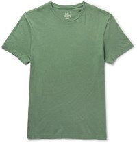 J.Crew Broken In Slim Fit Brushed Cotton Jersey T Shirt Green