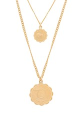 Joolz By Martha Calvo Zodiac Necklace Set Metallic Gold