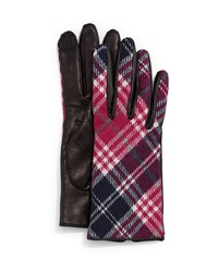Portolano Plaid Cashmere Back Leather Gloves