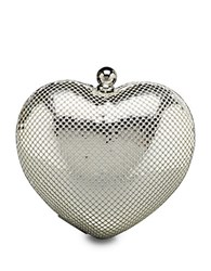 Whiting And Davis Charity Heart Minaudiere Silver