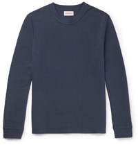 Oliver Spencer Berwick Ribbed Stretch Cotton Sweatshirt Navy