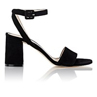 Barneys New York Women's Crisscross Ankle Strap Sandals Black Blue Black Blue