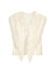 Helmut Lang Shearling And Cotton Blend Jacquard Gilet