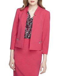 Tahari By Arthur S. Levine Open Front Blazer Strawberry