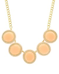 Sparkling Sage Round Stone Collage Statement Necklace Compare At 147 Gold Peach