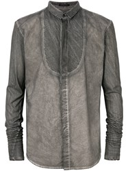 Unconditional Stencil Bib Shirt Grey