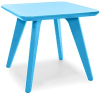 Loll Designs Satellite Square End Table Sky 18 Inch Blue