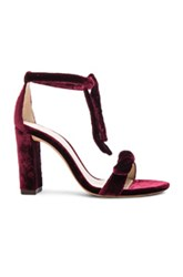 Alexandre Birman Velvet Clarita Heels In Red
