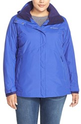 Plus Size Women's Columbia 'Bugaboo Interchange' Hooded Waterproof Jacket Light Grape