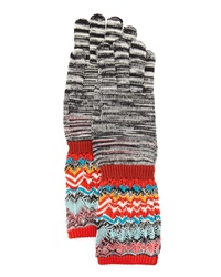 Missoni Space Dye And Zigzag Knit Gloves
