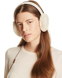 Ugg Wired Headphone Sequined Crochet Earmuffs With Shearling Trim Ivory