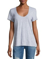 Lamade Scoop Neck Short Sleeve Jersey Tee Light Gray