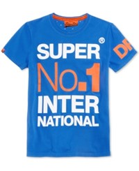 Superdry Men's International Graphic Print T Shirt Nautical Blue