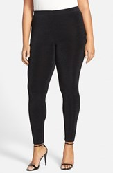 Plus Size Women's Vikki Vi Stretch Knit Slim Pants Black