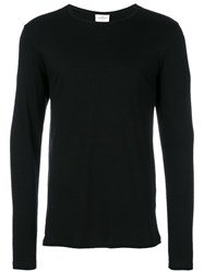 The White Briefs Long Sleeved T Shirt Black