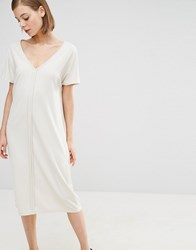 Selected Lima Midi Dress Cream
