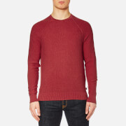 Michael Kors Men's Cotton Roll Crew Neck Jumper Nantucket Red