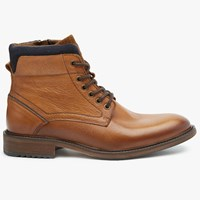 John Lewis Workman Leather Boots Tan