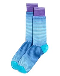 Bloomingdale's The Men's Store At Space Dye Stripe Socks 100 Exclusive Medium Purple