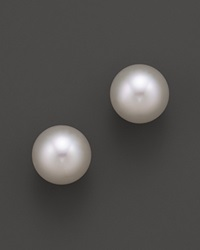 Tara Pearls 18K Yellow Gold White South Sea Cultured Pearl Stud Earrings 12 13Mm