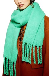 Topshop Heavy Brushed Scarf Mint