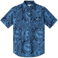 Engineered Garments Short Sleeve Popover Shirt Blue
