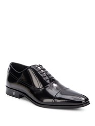 Versace Lace Up Leather Dress Shoes Black