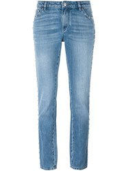Givenchy Studded Tapered Leg Jeans Blue