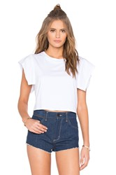 Kendall Kylie Flutter Sleeve Top White