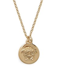 Versace Medusa Coin Necklace Gold