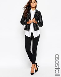 Asos Tall Ankle Length Stretch Skinny Trousers Black