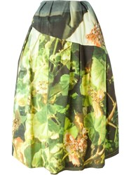 Simone Rocha Printed Full Skirt Green