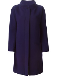 Gianluca Capannolo High Collar Coat Pink And Purple