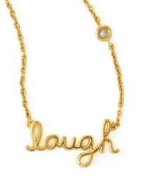 Shy By Sydney Evan Laugh Pendant Bezel Diamond Necklace Gold