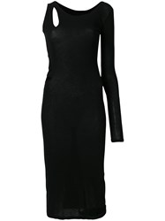 Yohji Yamamoto Cutout One Shoulder Dress Black