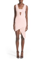Women's Missguided Asymmetrical Hem Lace Sheath Dress