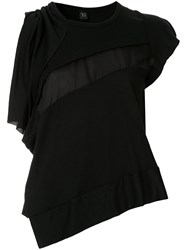 Y's Asymmetric Top Black