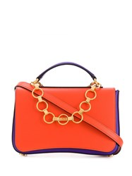 Emilio Pucci Chance Chain Embellished Colourblock Bag Pink