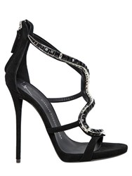 Giuseppe Zanotti 120Mm Suede And Swarovski Sandals