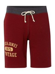 Jack And Jones Track And Field Logo Shorts Red