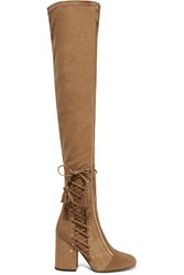 Laurence Dacade Maren Stretch Suede Over The Knee Boots Tan
