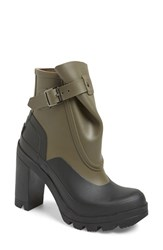 Women's Hunter 'Original Galosh' Waterproof Ankle Bootie 4 1 4' Heel