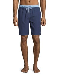 Peter Millar Nautilus Two Tone Swim Trunks Medium Blue