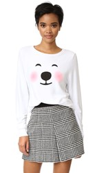 Wildfox Couture Polar Bear Emoji Sweatshirt Clean White
