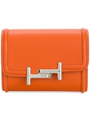 Tod's Double T Wallet Yellow And Orange