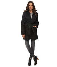 Vince Camuto Belted Quilted Long Jacket J1641 Black Women's Coat