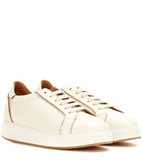 Brunello Cucinelli Platform Leather Sneakers White